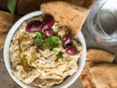 Sun-Dried Tomato and Kalamata Olive Hummus