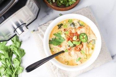 Instant Pot Cajun Ranch Chicken Soup