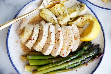 Instant Pot Lemon Chicken With Artichokes and Asparagus