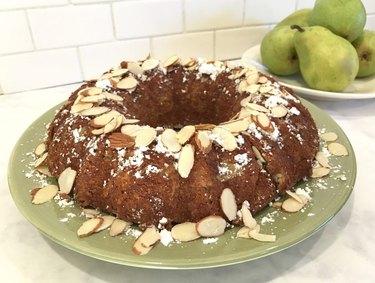 Pear Almond Bundt Cake