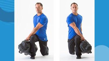 3. Rotational Lunge With Sandbag