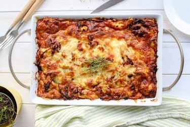 Breakfast Strata With Pancetta and Caramelized Onions