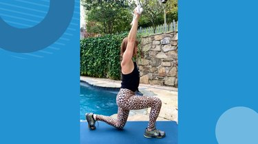 1. Reverse Lunge With Arm Extension