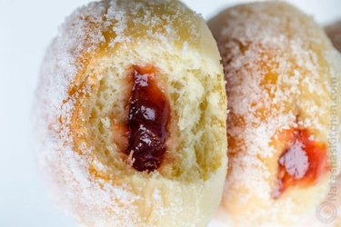 Baked Donuts Filled With Jelly
