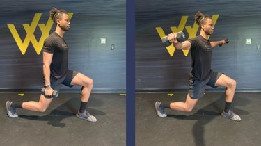 Move 5: Lateral Raise With Static Lunge
