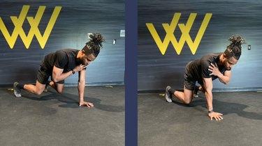 Move 1: Quadruped Shoulder Tap
