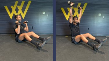 Move 2: Seated Shoulder Press