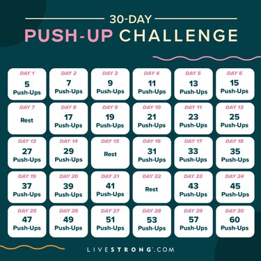 30-day push-up challenge calendar graphic