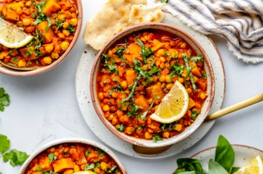Butternut Squash, Chickpea and Lentil Moroccan Stew