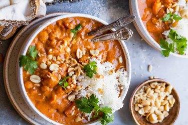 Sweet Potato and Chickpea Peanut Stew