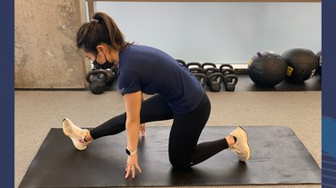 Move 2: Dynamic Half-Kneeling Hamstring Stretch