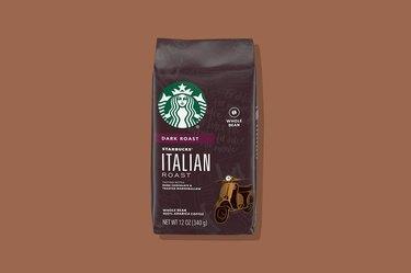 A bag of Starbucks coffee