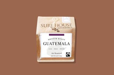 A bag of Sure House Coffee