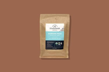 A bag of Grounds & Hounds Coffee