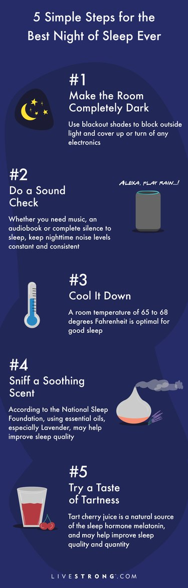 Five simple steps for the best night of sleep ever graphic