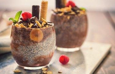 No-Cook Healthy Vegan Dark Chocolate Chia Pudding Low-Carb Vegan Breakfast Recipes