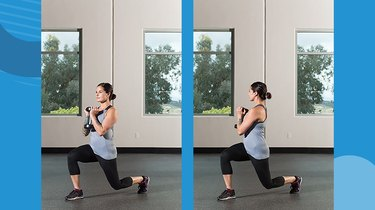 4. Reverse Lunge With Rotation