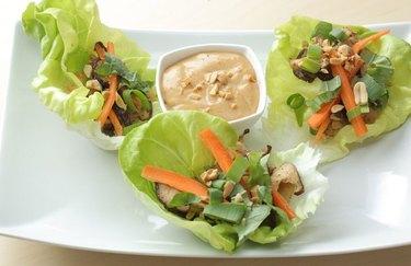 Vegetarian Thai Lettuce Wraps peanut butter recipes