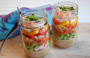 Shrimp and Vegetable Salad with Coconut Peanut Sauce peanut butter recipes