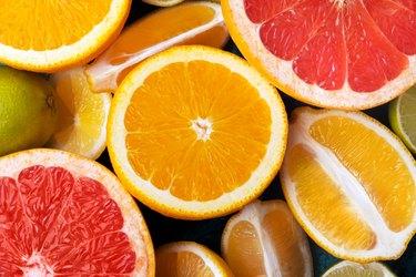 Full frame shot of orange fruits