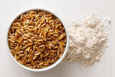 selenium-rich Kamut wheat kernels