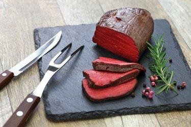 venison steak, sous vide cooking