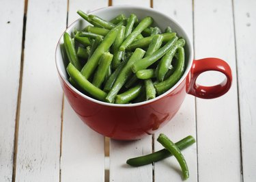 Green beans in a cup