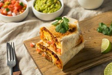 Homemade Chorizo Breakfast Burrito