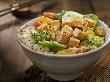 Grilled gluten-free Tofu Buddha Bowl