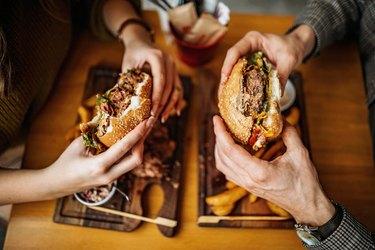 Hamburger for two