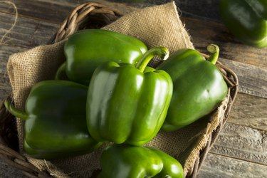 Raw Green Organic Bell Peppers