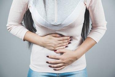 Woman ache belly