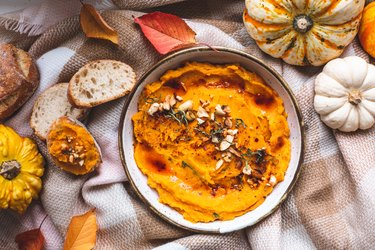 Spicy Houmous from Courge Butternut, Vegetarian Dish