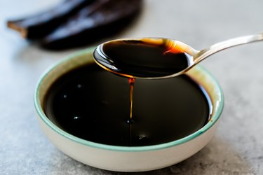 Molasses Dripping from Spoon