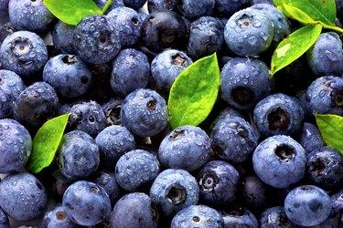 vitamin C-rich blueberries