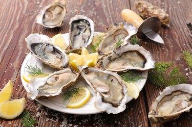 zinc-rich fresh oyster with lemon