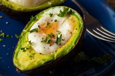 Homemade Organic Egg Baked in Avocado