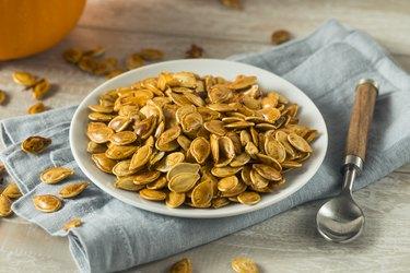 leucine-rich Homemade Roasted Spiced Pumpkin Seeds