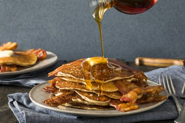 Homeade Sweet Bacon Pancakes