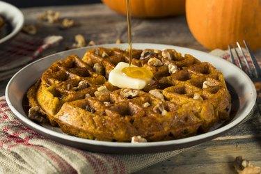 Sweet Homemade Pumpkin Waffles