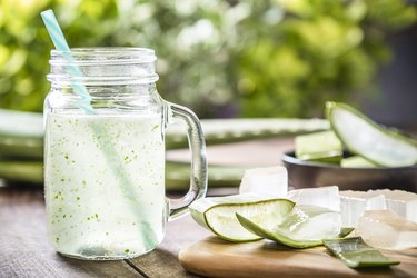 Aloe vera juice, as a natural remedy for upset stomach