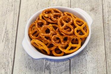 Gluten-free pretzels in a bowl.