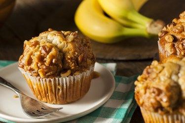 Homemade Banana Nut Muffins