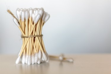 A bunch of bamboo cotton swabs meant to clean earwax
