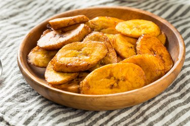Homemade Yellow Fried vitamin K-rich plantains