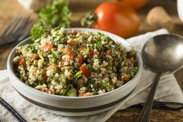 Healthy Organic Quinoa Tabouli Salad