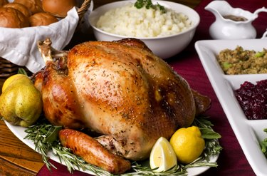 Holiday Dinner complete with phosphorous-rich turkey
