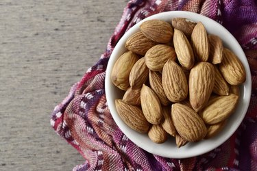 Almonds in bowl, Almond, Snack, Roasted, Nut - Food, Raw Food
