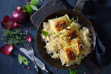 Raviolis de légumes à la choucroute