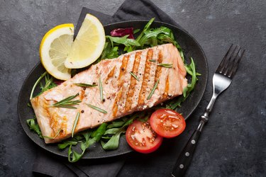 Grilled omega-3-rich salmon fish fillet